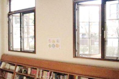 1階図書室 網戸取付