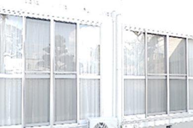 ガラス飛散防止フィルムの施工