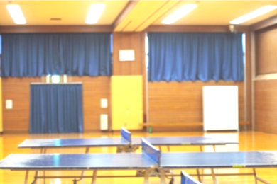 第2・第3競技場 上部窓カーテン設置