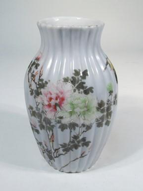 西浦焼上絵花瓶